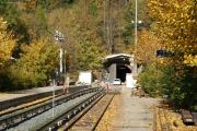 Mont Blanc-Express. SNCF. Umfassende Sanierung der Strecke Vallorcine-Chamonix. Eingang Montets-Tunnel, Montroc-Le Planet