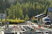 Mont Blanc-Express. SNCF. Umfassende Sanierung der Strecke Vallorcine-Chamonix. Montroc-Le Planet
