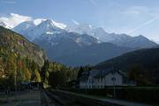Mont Blanc-Express. SNCF. Mont Blanc (4807m). Servoz.