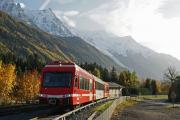 Mont Blanc-Express. SNCF. Mont Blanc (4807m). Les Tines
