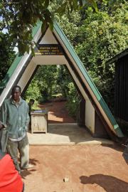Marangu Gate (1980m). Marangu-Route - Start!