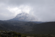 Der Mawenzi. Horombo-Hütten. Kilimanjaro NP. Marangu-Route, Tag 2