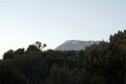 Kibo in der Dämmerung. Horombo-Hütten.  Kilimanjaro NP. Marangu-Route, Extra-Tag 3