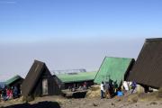 Morgentliche Vorbereitungen für den Auftstieg. Horombo-Hütten. Kilimanjaro NP. Marangu-Route, Tag 4