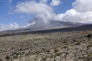 Der Kibo (5895m). Kilimanjaro NP. Marangu-Route, Tag 4