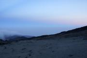 Abenddämmerung bei den Kibo-Hütten.  Marangu-Route, Tag 4