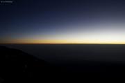 Sonnenaufgang auf dem Kibo. Gilman's Point, Marangu-Route, Tag 5