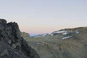 Sonnenaufgang auf dem Kibo: Erdschattenbogen im NW. Marangu-Route, Tag 5
