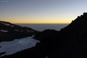 Sonnenaufgang auf dem Kibo. Marangu-Route, Tag 5
