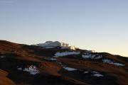 Sonnenaufgang auf dem Kibo: Stufengletscher des Östlichen Eisfeldes. Marangu-Route, Tag 5