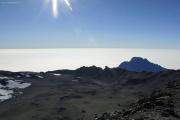 Kibo-Krater mit Mawenzi. Uhuru Peak, Marangu-Route, Tag 5