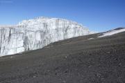 Südliches Eisfeld. Uhuru Peak (Kibo-Gipfel)