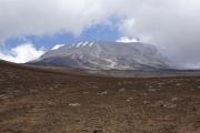 Abstieg - nochmals ein Blick zum Kibo. Marangu-Route, Tag 5