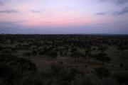 Abendlicht über dem Tarangire NP. Tarangire Safari Lodge