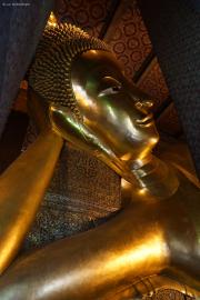 Bangkok. Wat Pho. Liegender Buddha