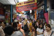 Bangkok. Marktgasse in Chinatown