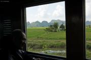 "Bahnfahrt entlang des Rivers Kwai nach Nam Tok. Reststück der ""Todeseisenbahn"" nach Burma. Kanchanaburi"