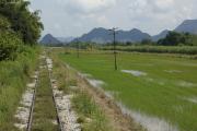 "Bahnfahrt entlang des Rivers Kwai nach Nam Tok. Reststück der ""Todeseisenbahn"" nach Burma. Nong Ya, Kanchanaburi"