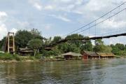Brücke über den River Kwai (Khwae Yai). Bei Nam Tok, Kanchanaburi