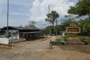 Drei-Pagoden-Pass. Grenze zwischen Thailand und Myanmar (Burma). Zollhaus. Grenze war für Touristen geschlossen!