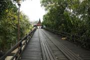 """Mon-Brücke"" über den Khao Laem Stausee. Sangkhla Buri"