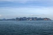 Küste vor Krabi mit Ao Nang und Rai Leh