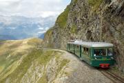 Tramway du Mont-Blanc TMB. Nid d'Aigle