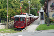 Tramway du Mont-Blanc TMB. Le Fayet