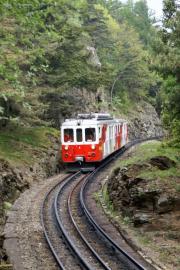 Mont Blanc-Express. Transports de Martigny et Régions TMR, Martigny - Châtelard (MC). Unterhalb Salvan