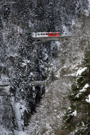 Mont Blanc-Express. Transports de Martigny et Régions TMR, Martigny - Châtelard (MC). Le Trétien