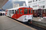 Train Nostalgique du Trient TNT. Martigny - Châtelard (MC). Bt 64 der TMR, Martigny