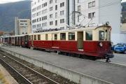 Train Nostalgique du Trient TNT. Martigny - Châtelard (MC). ABDeh 4/4 Nr. 32, BFZt 75 und 74, Martigny