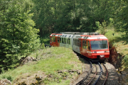 Mont-Blanc Express. Transports de Martigny et Régions TMR, Martigny - Châtelard (MC). Unterhalb Salvan