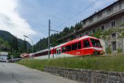 Mont Blanc-Express. Transports de Martigny et Régions TMR, Martigny - Châtelard (MC). Le Châtelard