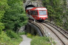 Mont Blanc-Express. Transports de Martigny et Régions TMR, Martigny - Châtelard (MC). Entre Finhaut et Le Trétien