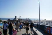 Touristen, Touristen, Blech und Meer, Santa Monica Pier, CA
