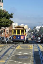 Cable Car der Powell-Hyde-Linie, San Francisco, CA