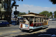 Cable Car der Powell-Hyde-Linie, Hyde & Beach, San Francisco, CA