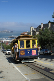 Cable Car, Powell-Hyde-Line, Alcatraz, San Francisco, CA