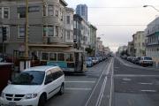 Cable Car an Kreuzung Mason St & Jackson St, San Francisco, CA