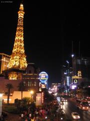 Las Vegas!  Eiffelturm des Paris Las Vegas am Strip gegenüber des Hotel Bellagio