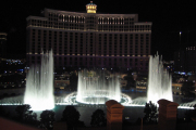 Las Vegas! Wasserspiel des Bellagio Hotel.