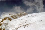 Auf dem Lysgletscher oberhalb der Rif. Gnifetti