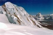 Aufstieg zur Signalkuppe: Liskamm, Matterhorn