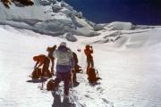 Abstieg von der Signalkuppe: auf dem Grenzgletscher