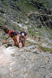 Aufstieg zur Domhütte oberhalb Randa