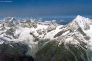Dom (4545 m): Mont Blanc, Dent Blanche, Signalrothorn, Weisshorn