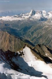 Dom (4545 m): Matterhorn, Dent d'Hérens, Zermatt