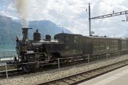 Zentralbahn zb. HG 3/3 1067 der Ballenberg-Dampfbahn in Brienz