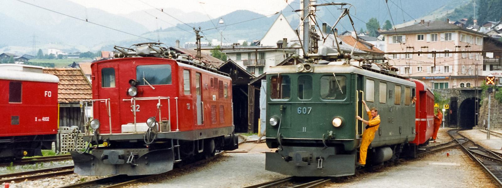 Furka-Oberalp-Bahn FO, Rhätische Bahn RhB